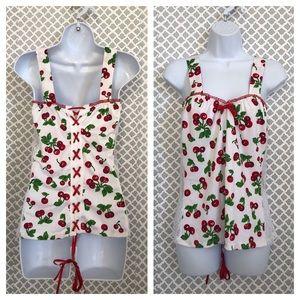 1a70ebc000b NWT Demi Loon retro Cheri corset lace lingerie top